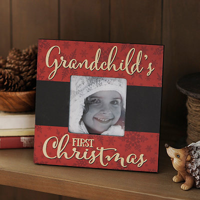 Grandchild's First Christmas Picture Frame, 4x4