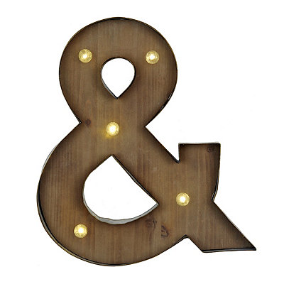 Wood and Metal LED & Plaque