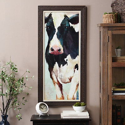 Countryside Cow Framed Art Print