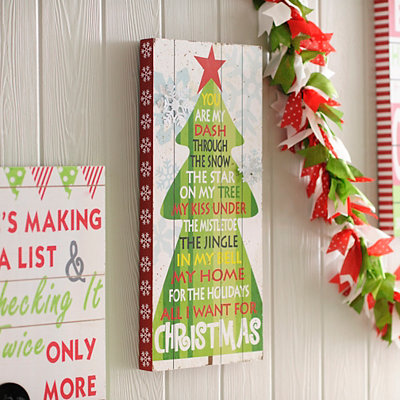 All I Want for Christmas Wooden Plaque