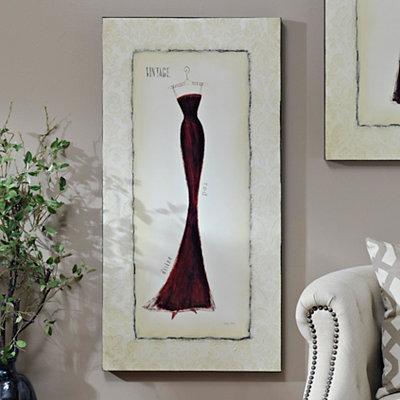 Vintage Red Dress Canvas Art Print