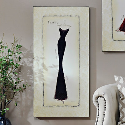 Vintage Black Dress Canvas Art Print