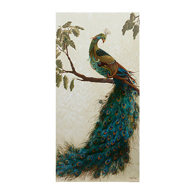 Peacock Tapestry I Canvas Art Print