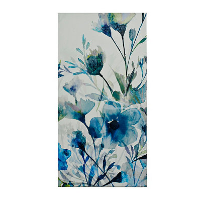 Blue Transparent Garden I Canvas Art Print