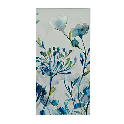 Blue Transparent Garden II Canvas Art Print