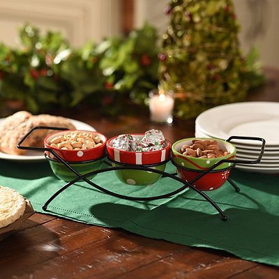 Red and Green 4-pc. Serving Bowl Set