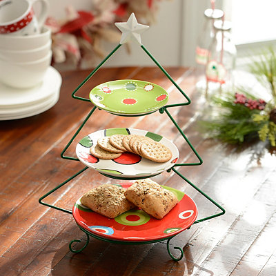 3-Tier Christmas Tree Serving Set