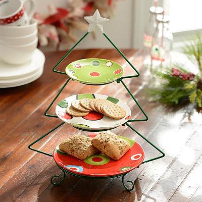 3-Tier Christmas Tree Serving Set