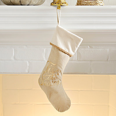 Gold Foil Tis the Season Stocking