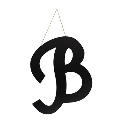 Black Manila Monogram Wooden Plaque