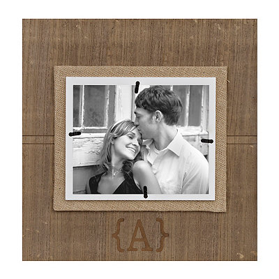 Natural Wood Monogram A Picture Frame, 8x10