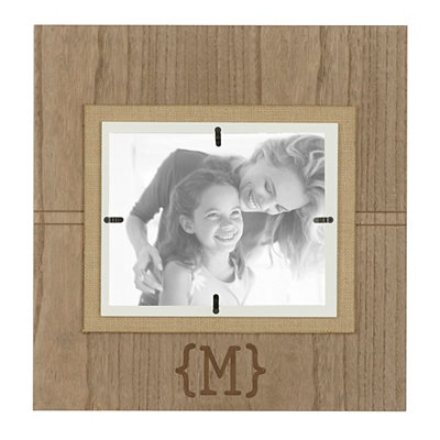 Natural Wood Monogram M Picture Frame, 8x10