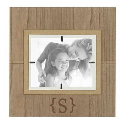 Natural Wood Mongram S Picture Frame, 8x10