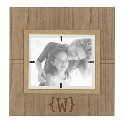Natural Wood Monogram W Picture Frame, 8x10