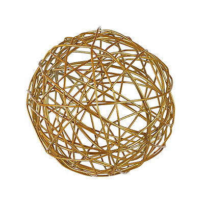 Woven Gold Orb Sculpture, 5 in.