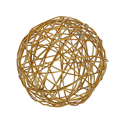 Woven Gold Orb Sculpture, 6.75 in.