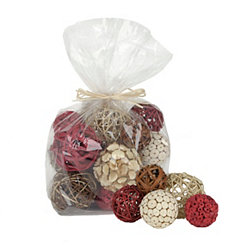 Brick Red Dried Orb Set