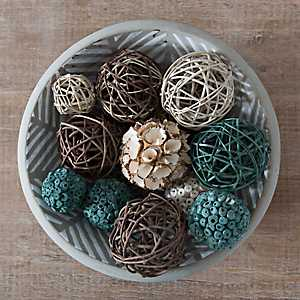 Dusty Turquoise Dried Orb Set