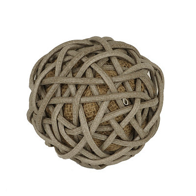 Natural Willow Wrapped Burlap Orb