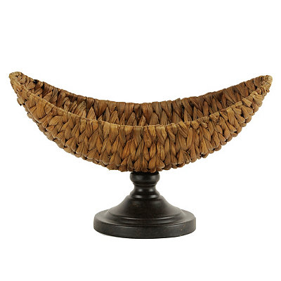 Woven Rattan Pedestal Bowl
