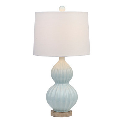 Light Blue Squash Blossom Table Lamp