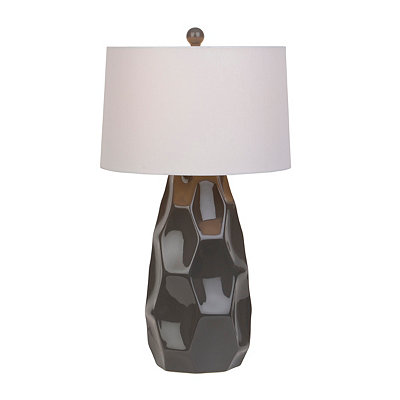 Black Geometric Gloss Table Lamp
