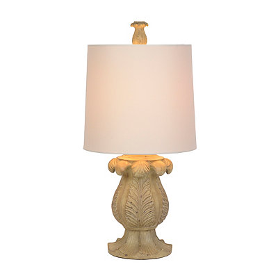 Abaro Ivory Acanthus Leaf Table Lamp