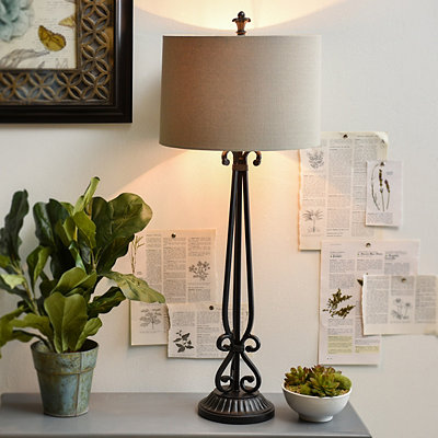 Matte Black Metal Table Lamp