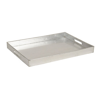 Metallic Silver Tray