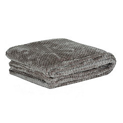 Heavenly Gray Luxe Bubble Throw Blanket