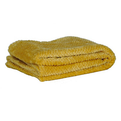 Heavenly Yellow Luxe Bubble Throw Blanket