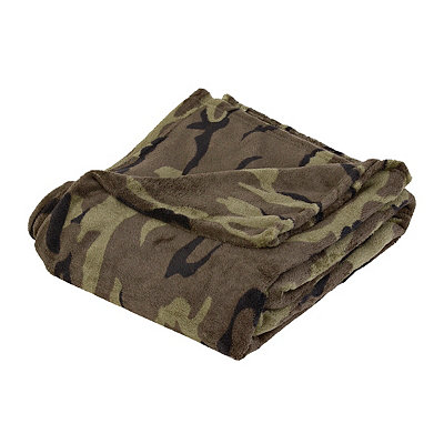 Camouflage Oversized Fleece Throw Blanket