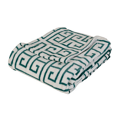 Greek Key Oversized Fleece Throw Blanket