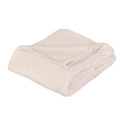 Cream Oversized Fleece Throw Blanket