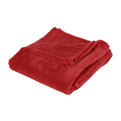 Red Oversized Fleece Throw Blanket