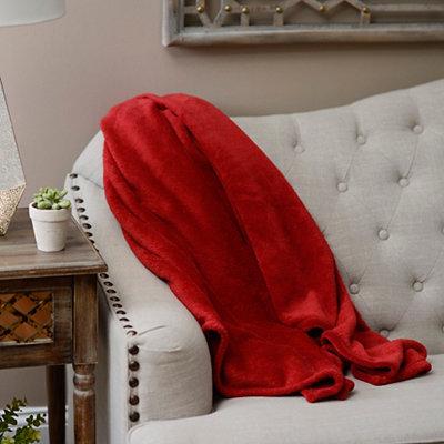 Red Oversized Fleece Throw Blanket