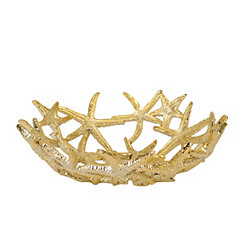 Gold Starfish Decorative Bowl