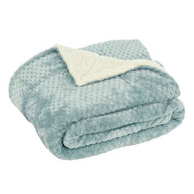 Aqua Sherpa Blanket