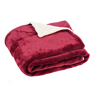 Red Sherpa Blanket