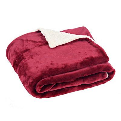 Red Sherpa Blanket