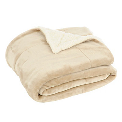 Taupe Sherpa Blanket
