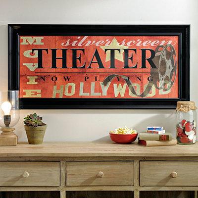 Red Theater Framed Art Print