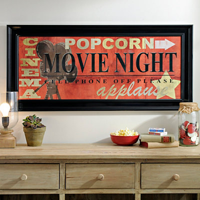Red Movie Night Framed Art Print
