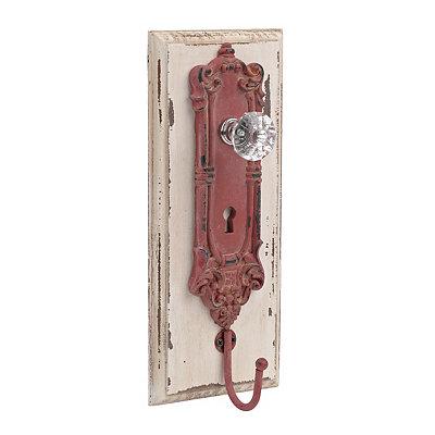 Red Antique Door Knob Wall Hook