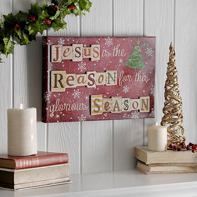 Jesus is the Reason Popped Canvas Art Print