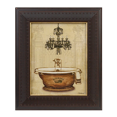 Crown Bathtub I Framed Art Print