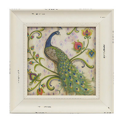 Jeweled Peacock I Framed Art Print