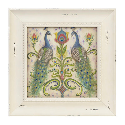 Jeweled Peacock II Framed Art Print