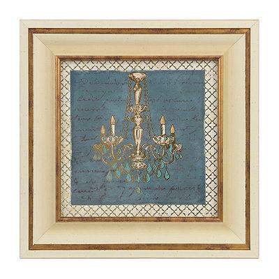 Gold Chandelier I Framed Art Print