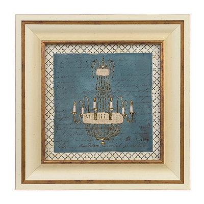 Gold Chandelier II Framed Art Print